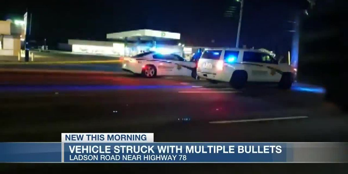VIDEO: Man hospitalized with gunshot wounds after deputies find vehicle with bullet holes