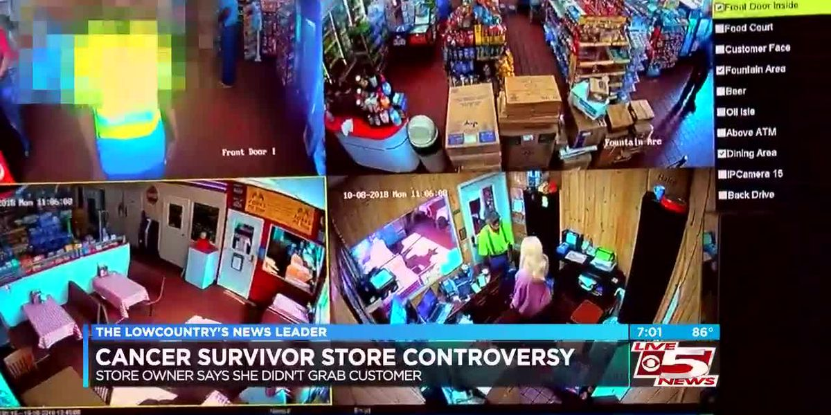 Walterboro store owner under fire says she didn't grab cancer survivor; Video released