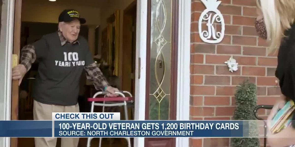 VIDEO: 100-year-old veteran from North Charleston receives 1,200 birthday cards