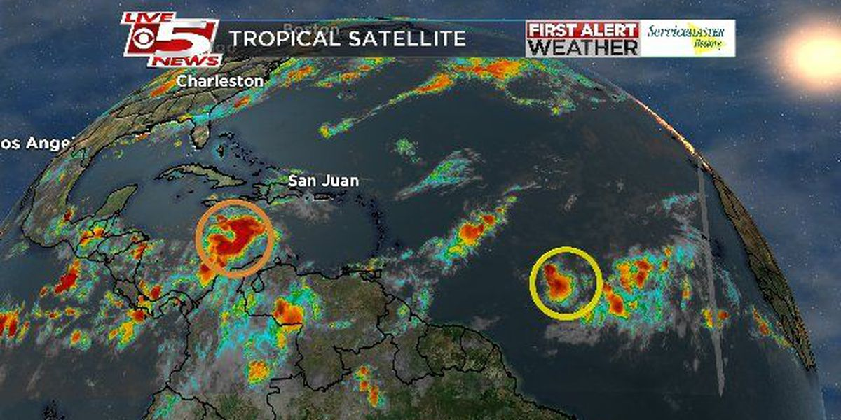Forecasters watching 2 disturbances in the Atlantic for possible tropical development