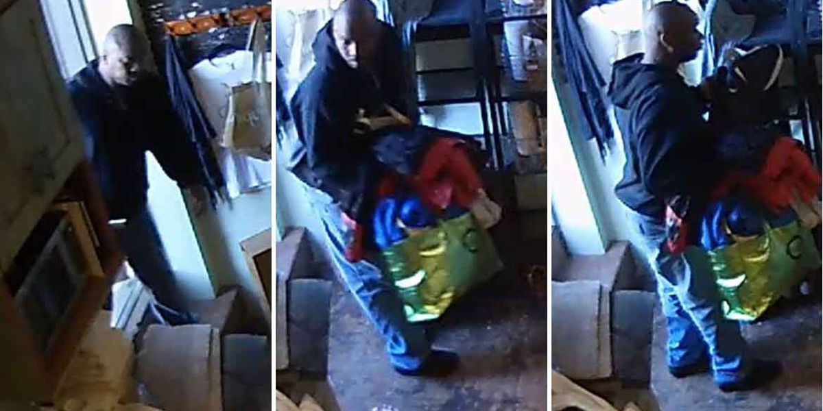 Wanted: Man caught on camera stealing purses from downtown business
