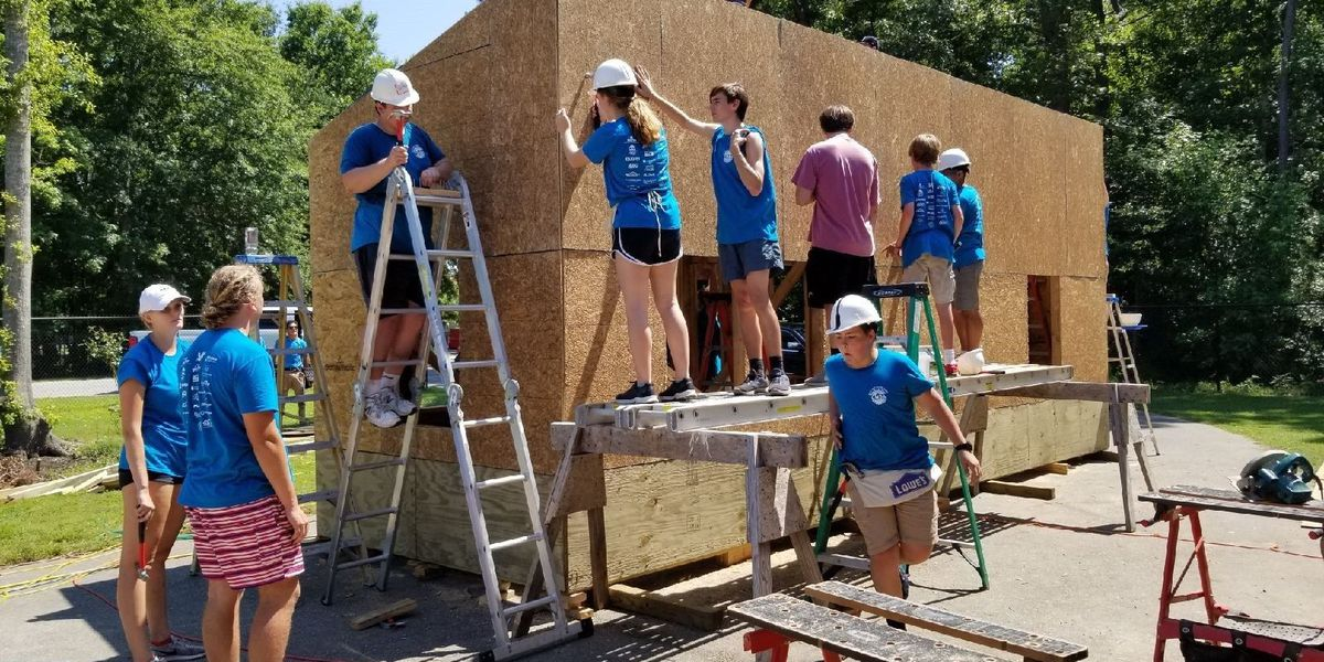 Home builders association partners with Wando High School students to build tiny home for veteran