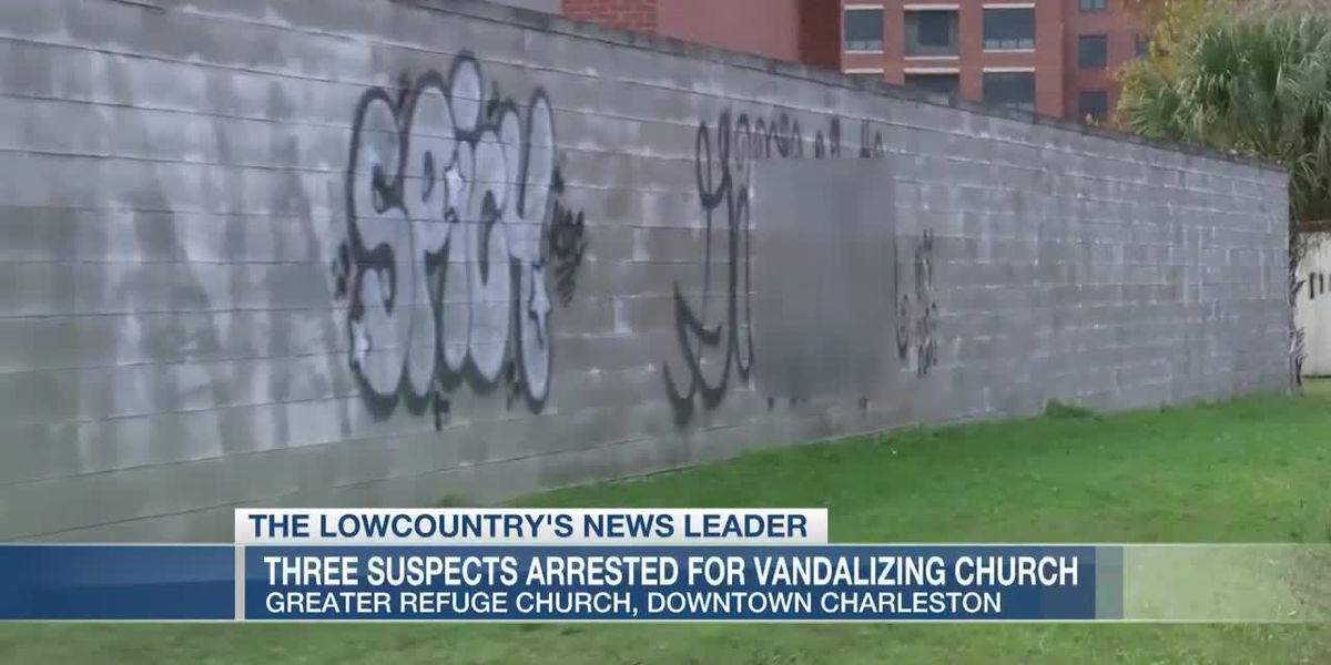 VIDEO: Police: Three arrested for vandalizing downtown Charleston church