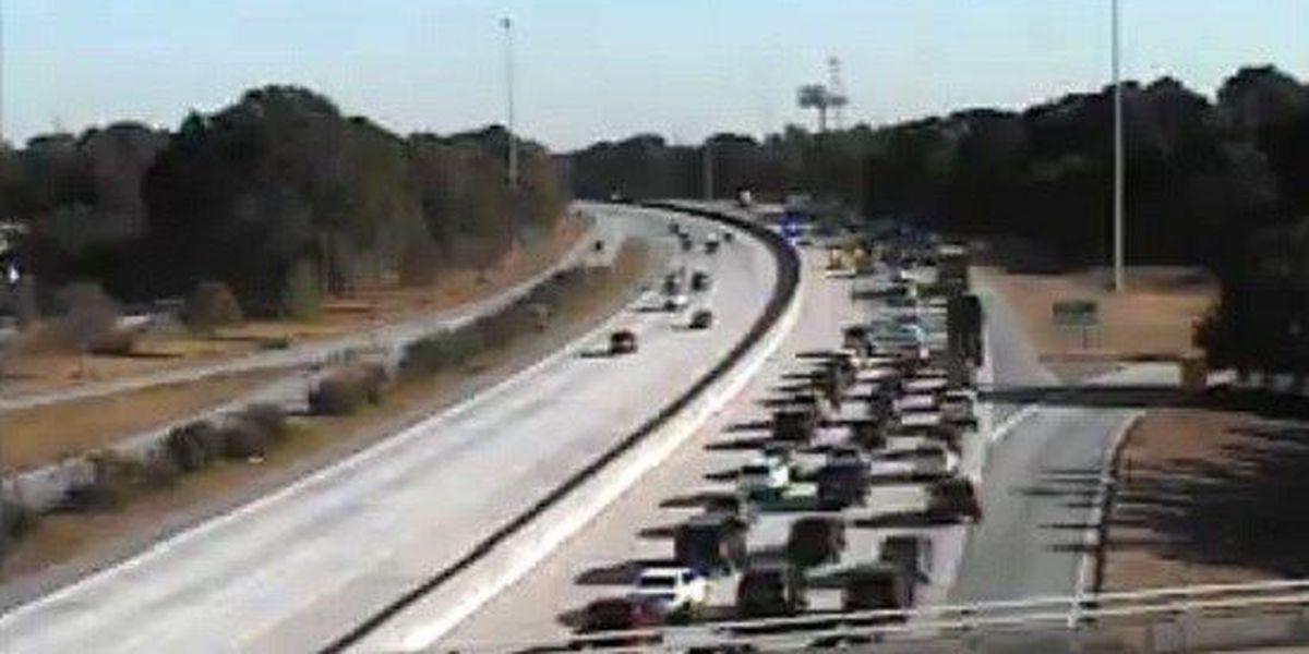 Traffic moving near interchange after I-26 EB wreck