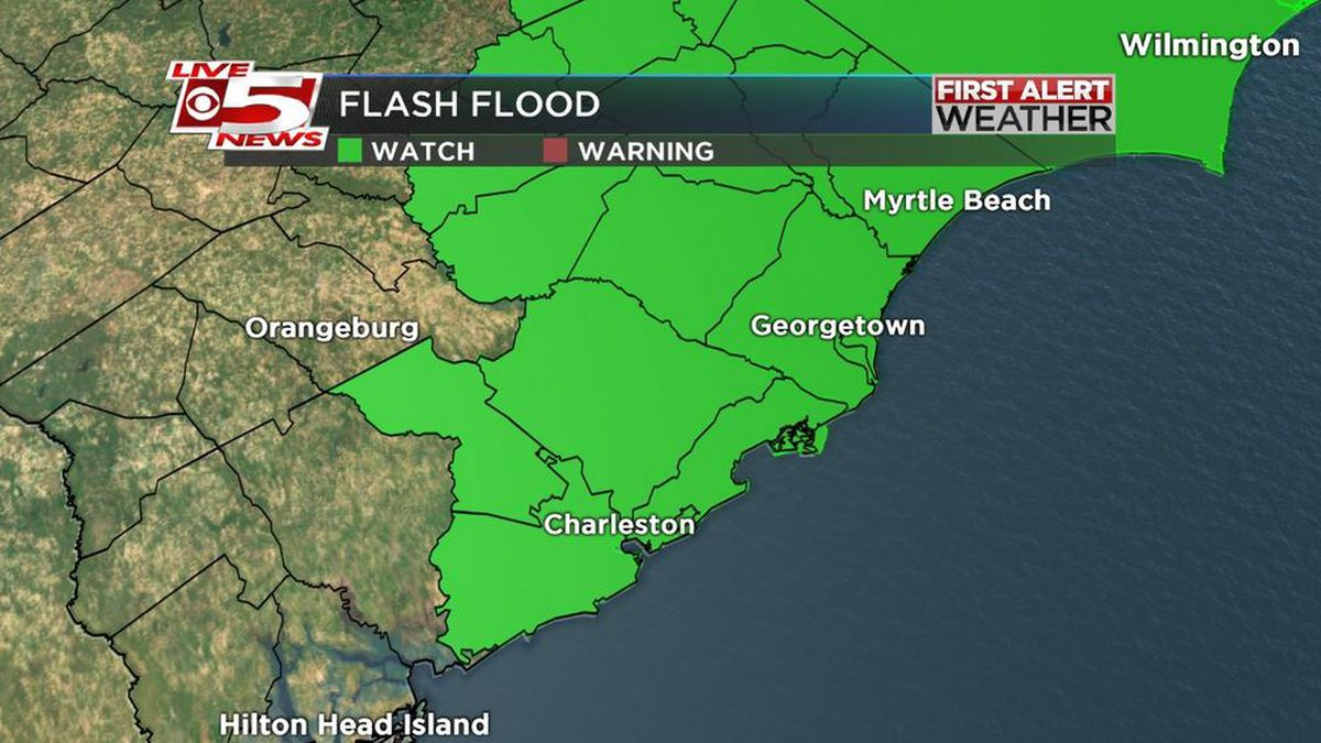 FIRST ALERT: Flash flood warning in effect for Charleston Co.