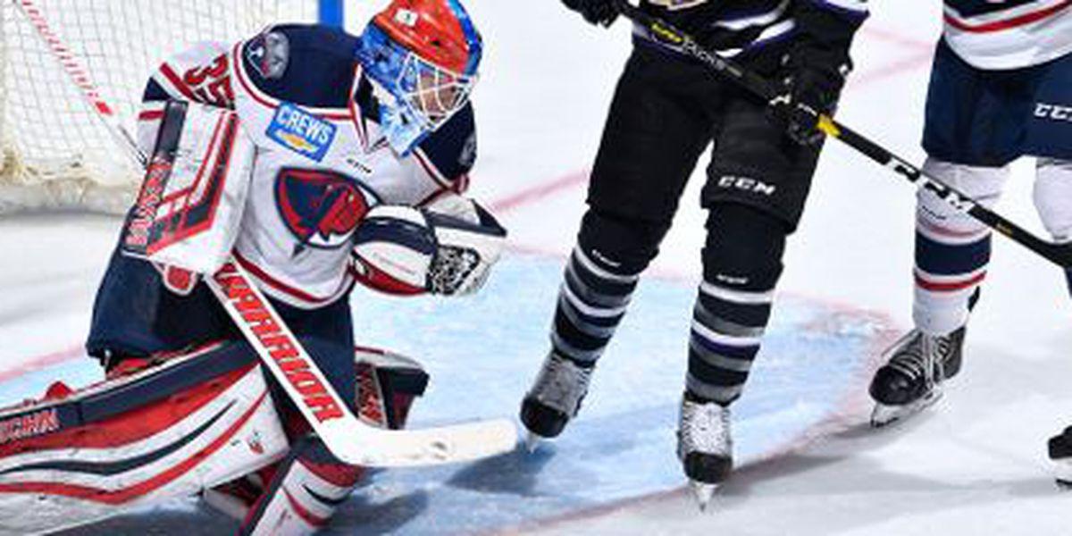 Stingrays' Parker Milner Named Warrior Hockey ECHL Goaltender of the Week