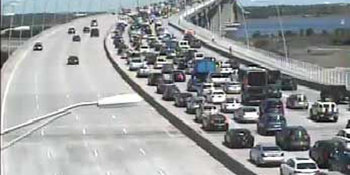 Traffic back to normal on Ravenel bridge following accident