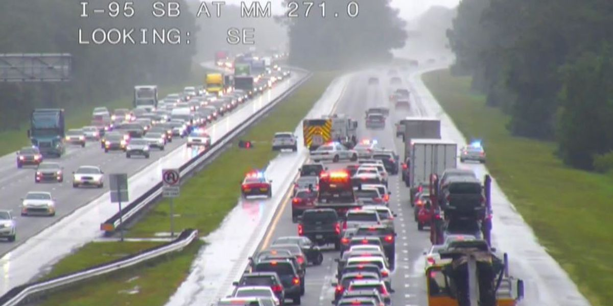 Motorcyclist hit, killed by lightning strike on I-95