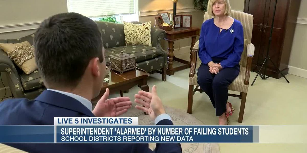 VIDEO: S.C. superintendent 'alarmed' as school districts report increase in number of failing students