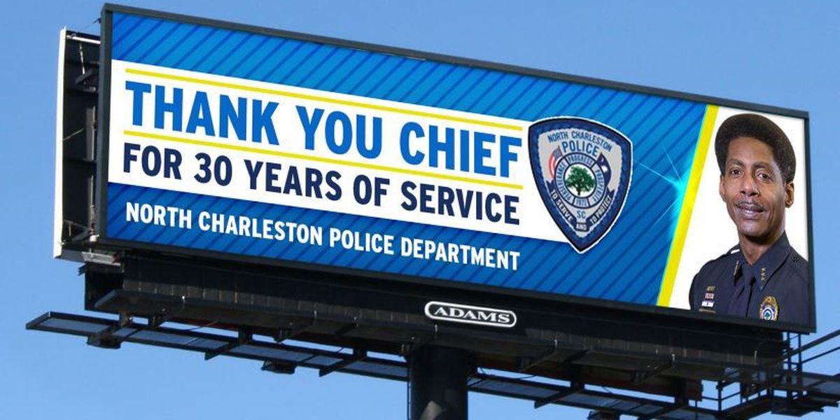 Billboards around Charleston area honor North Charleston police chief
