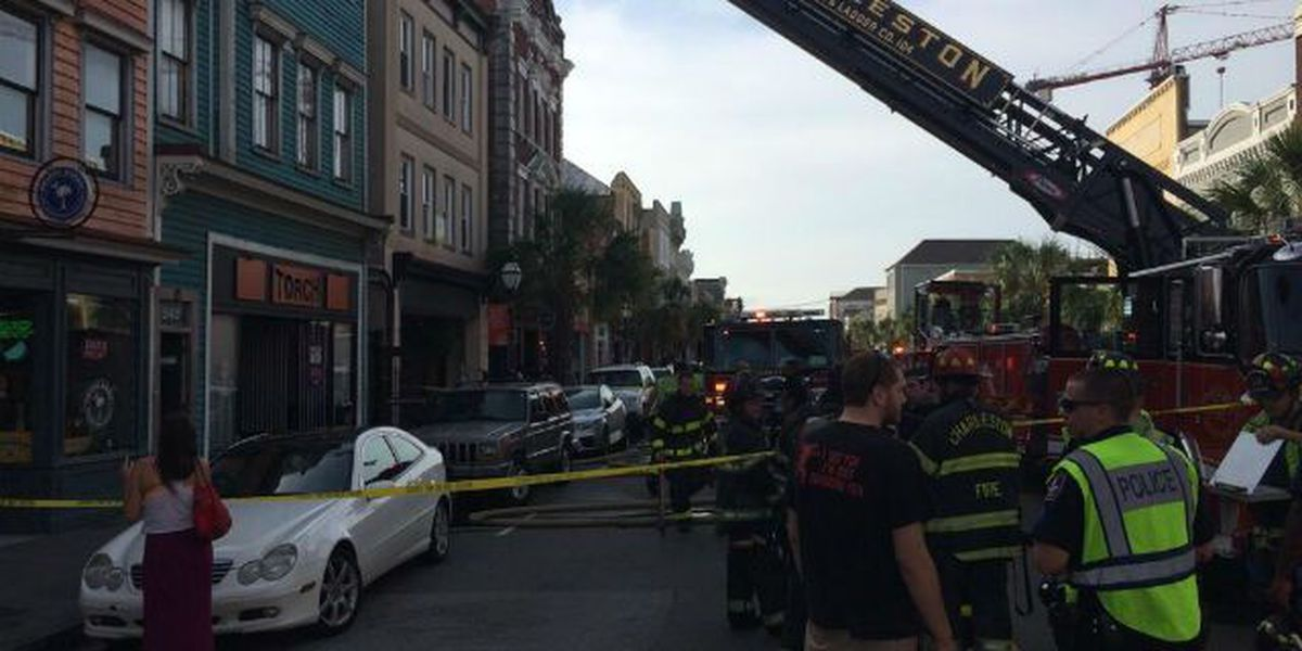 Firefighters extinguish fire at King Street building