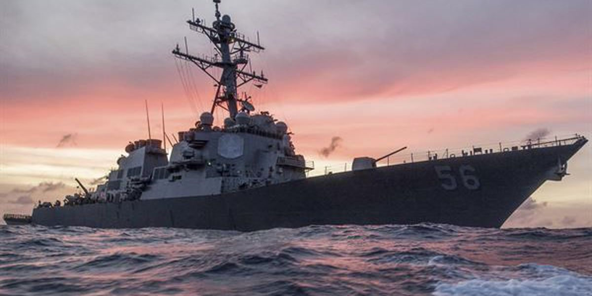 Ten sailors missing, five injured after USS John S. McCain collides with merchant ship near Strait of Malacca