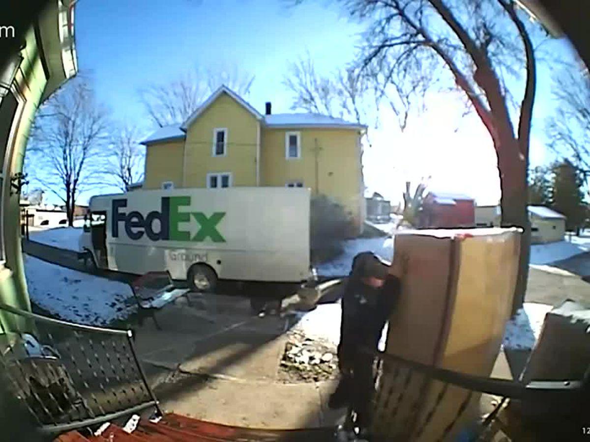 FedEx driver's temper tantrum caught on doorbell camera