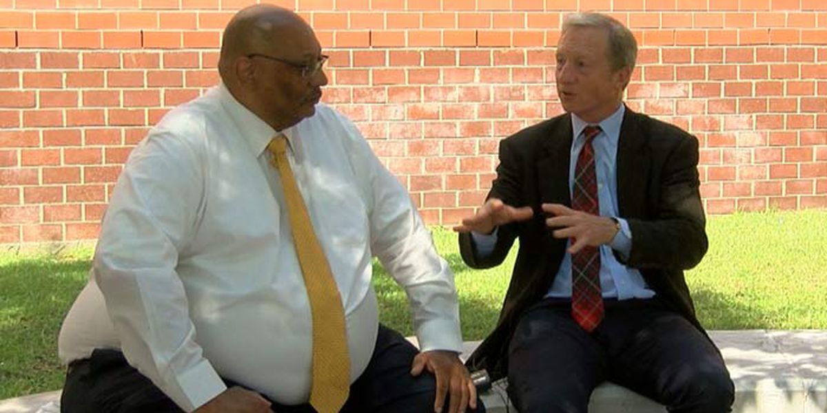2020 presidential candidate Steyer visits Charleston, talks about state of education