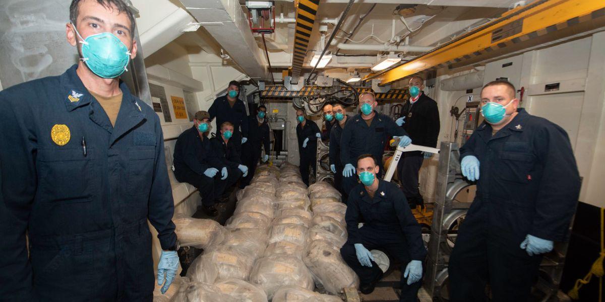 Navy ship named for Charleston hero Ralph Johnson seizes big stash of drugs at sea