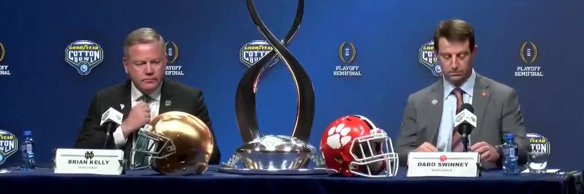 RAW VIDEO: Clemson, Notre Dame coaches hold news conference ahead of Cotton Bowl