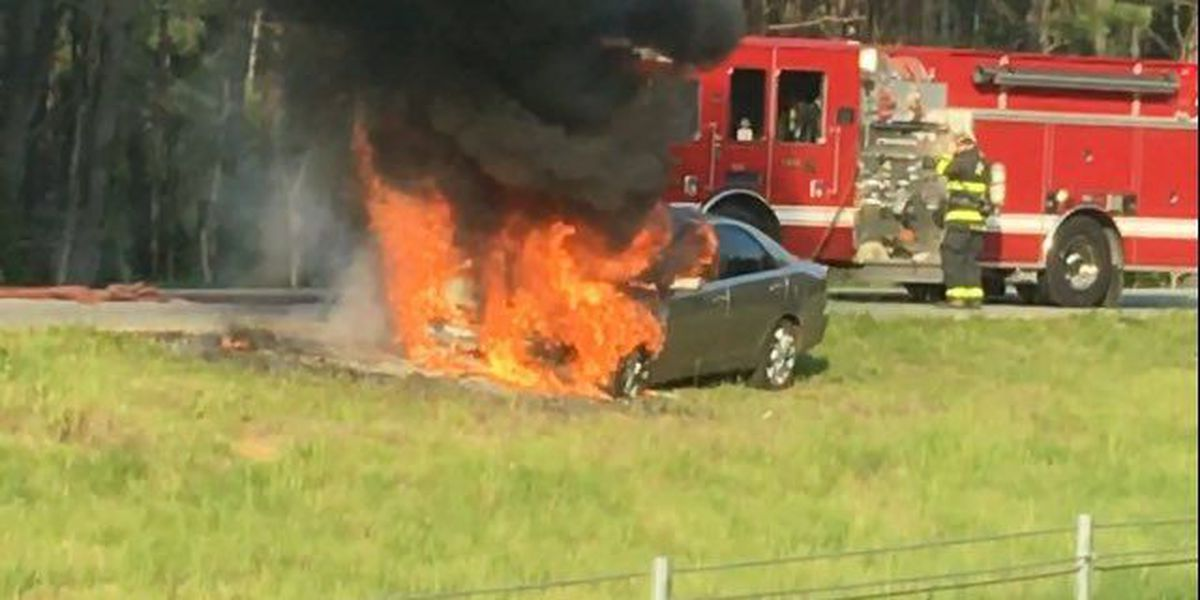 Troopers respond to vehicle fire on I-26