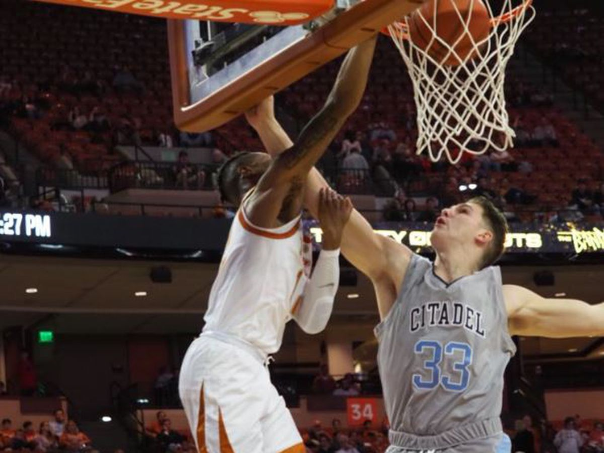 Febres 3-pointers spark Texas over The Citadel 97-69