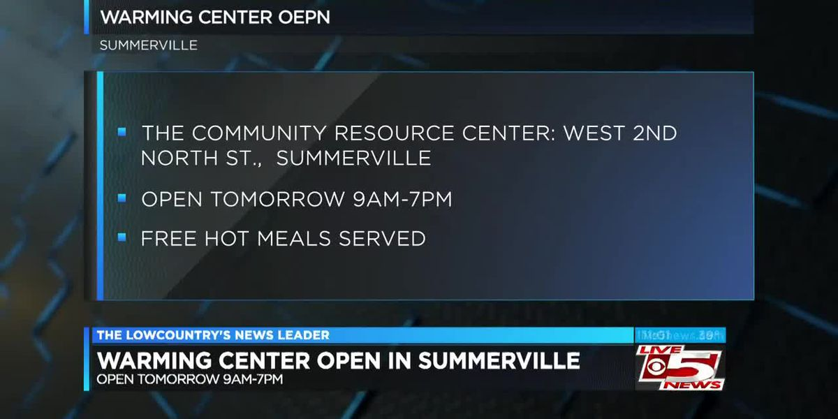 VIDEO: Summerville warming center opens Monday, offers free meals and hygiene kits