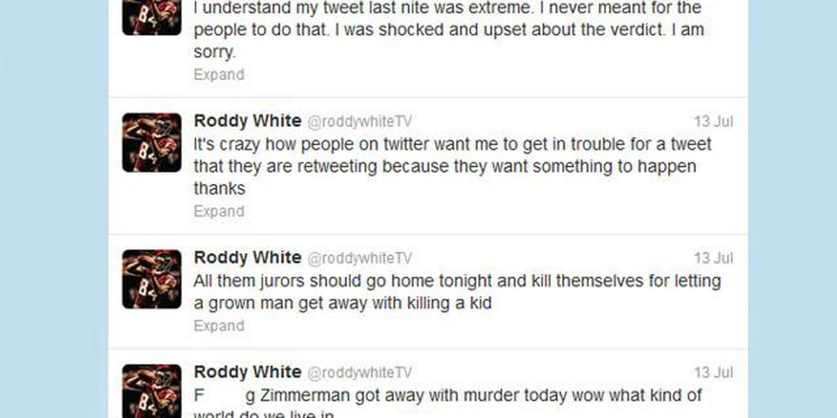 Roddy White tweets 'jurors should kill themselves' after Zimmerman verdict