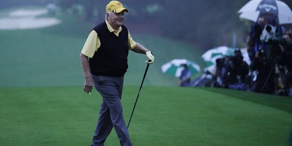 Honorary starters, then rain, as 1st fall Masters begins