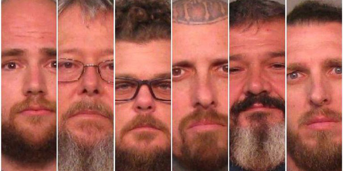 Six motorcycle gang members accused in attack over t-shirt, territory in Clover, S.C.