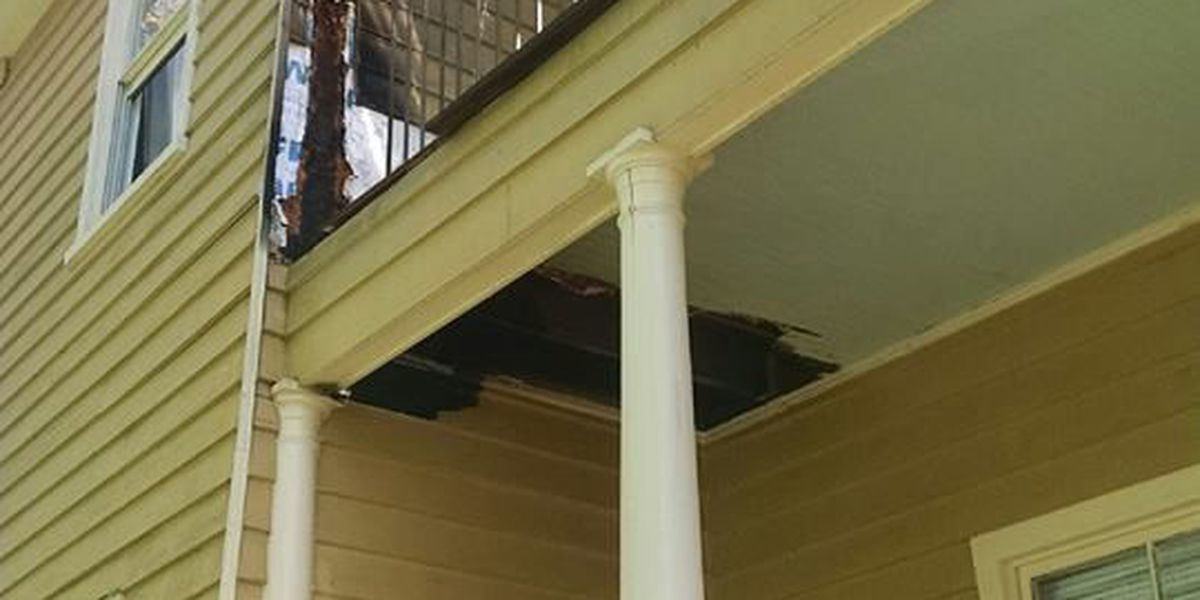 'Smoking materials' cause porch fire at downtown Charleston home