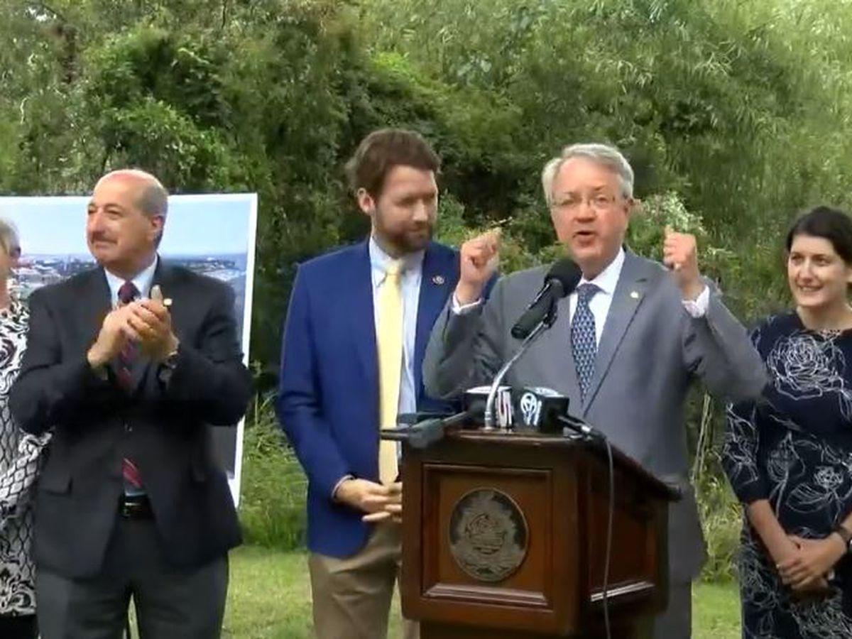 Charleston leaders celebrate $18M federal grant for pedestrian/bike bridge