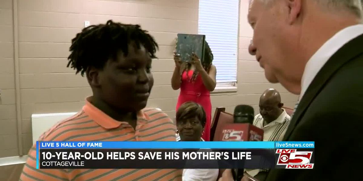VIDEO: Hall of Fame: Boy honored for saving his mother's life after shooting