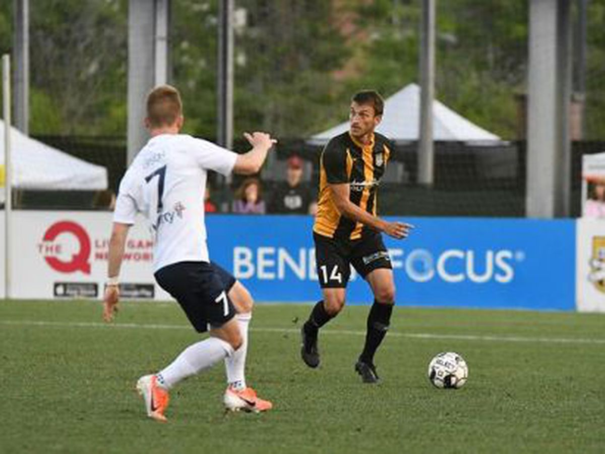 Lewis' Corner Goal Lifts Battery to 1-1 Draw