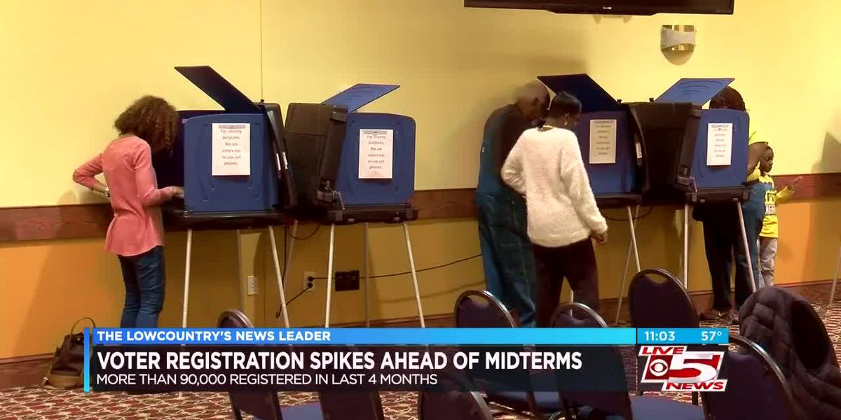 Number of registered voters in South Carolina spikes ahead of midterm election