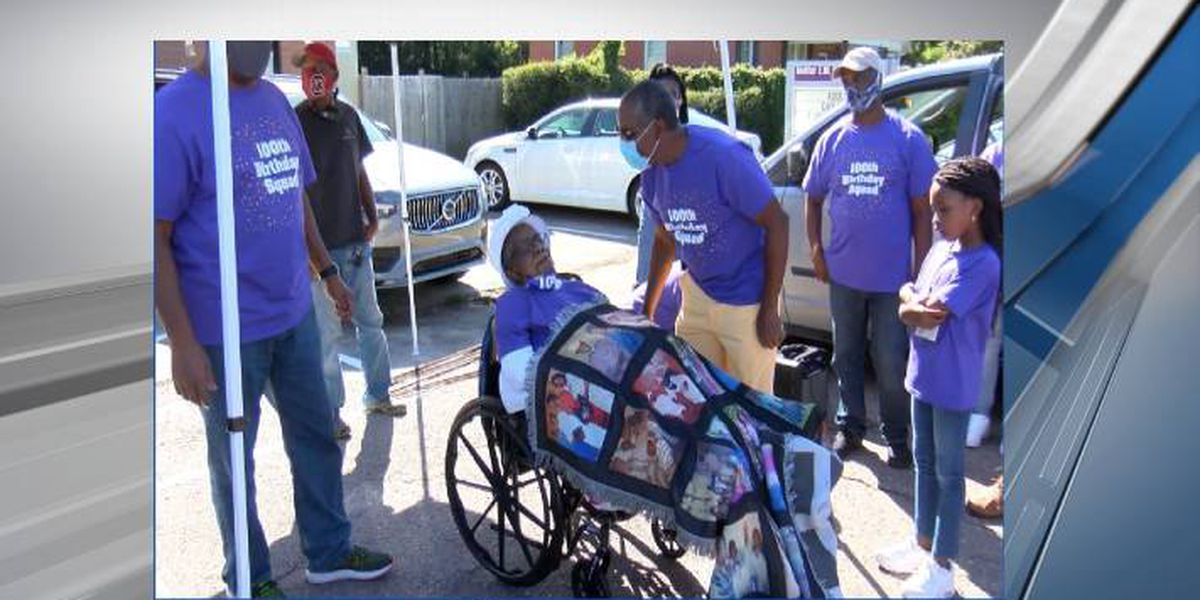 Midlands woman celebrated with parade for her 100th birthday