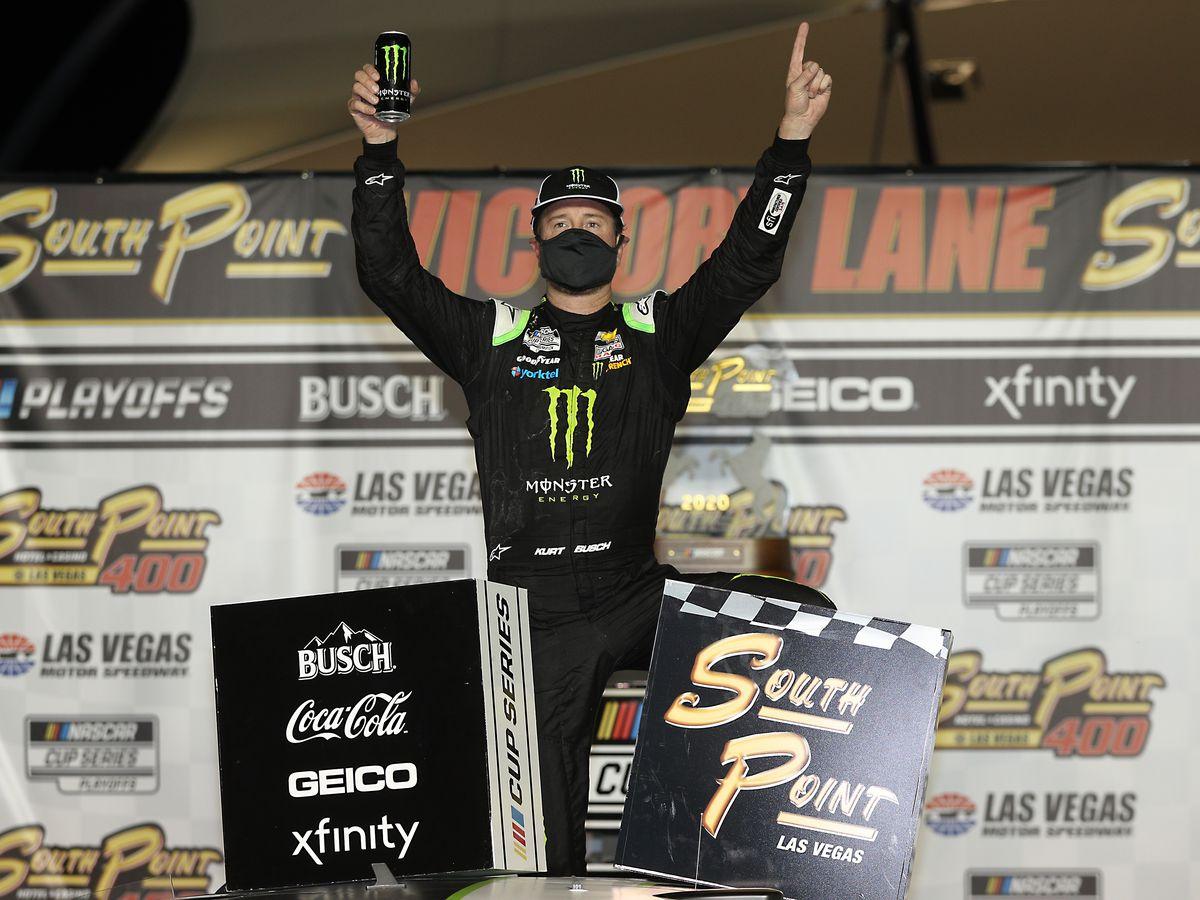 Kurt Busch ends 0-for-21 skid to finally win at home track