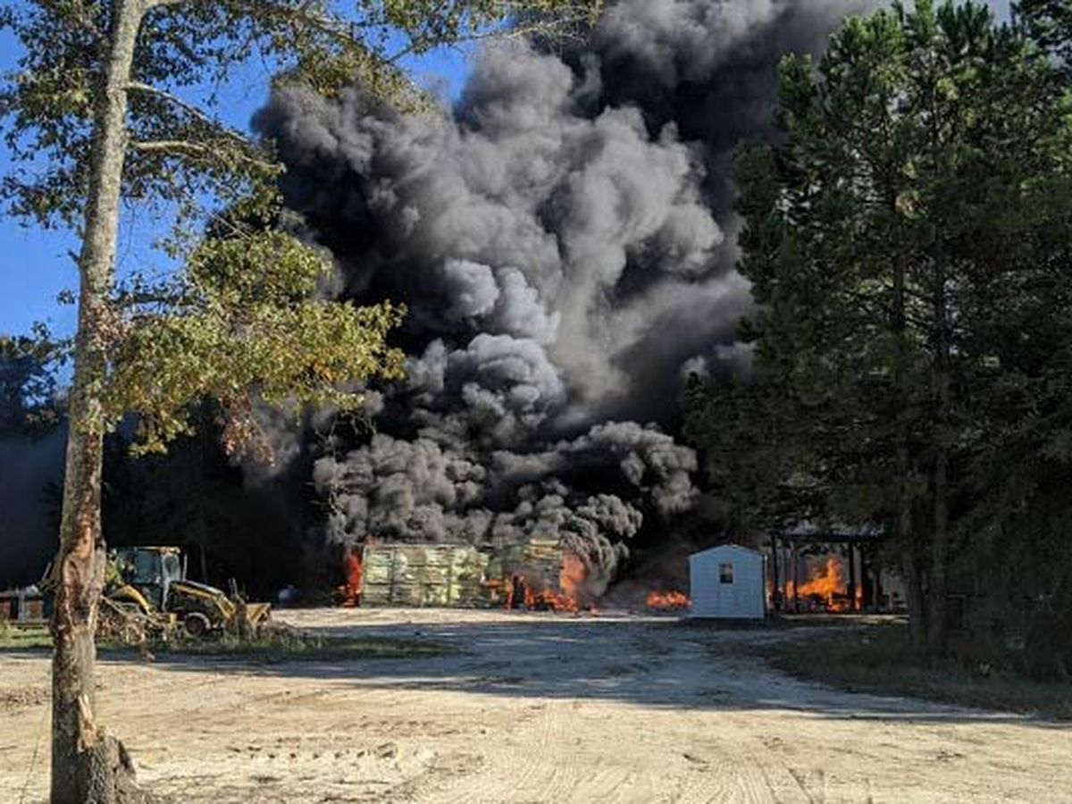 Firefighters extinguish fire at Williamsburg County landfill