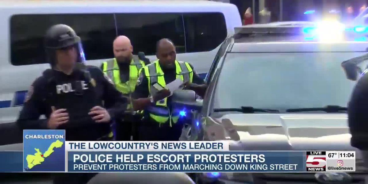 VIDEO: Police help escort protesters
