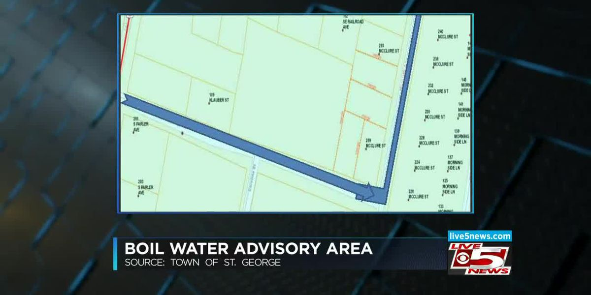 VIDEO: Small area of St. George under boil water advisory