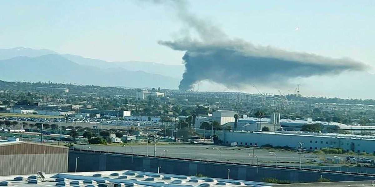 Tanker catches fire and triggers explosions in Los Angeles, injuring 2 people