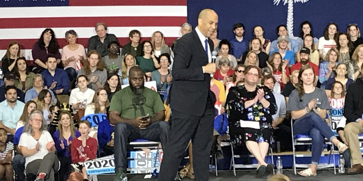 Presidential hopeful Sen. Cory Booker campaigns in Lowcountry