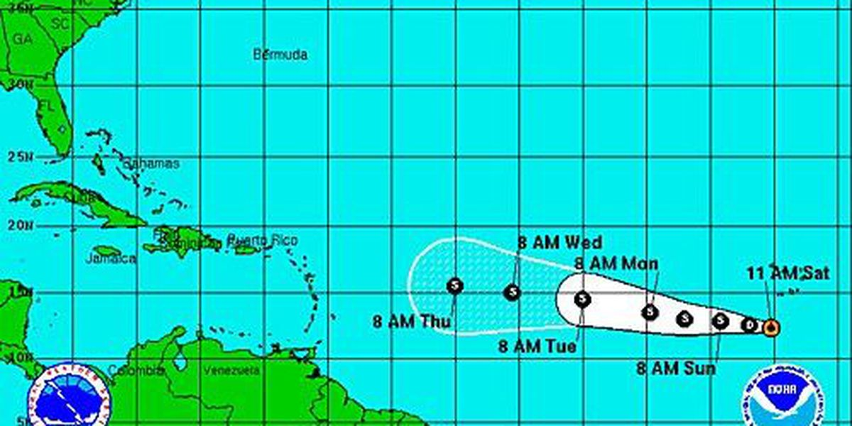 7th tropical depression forms, could be tropical storm by Sunday