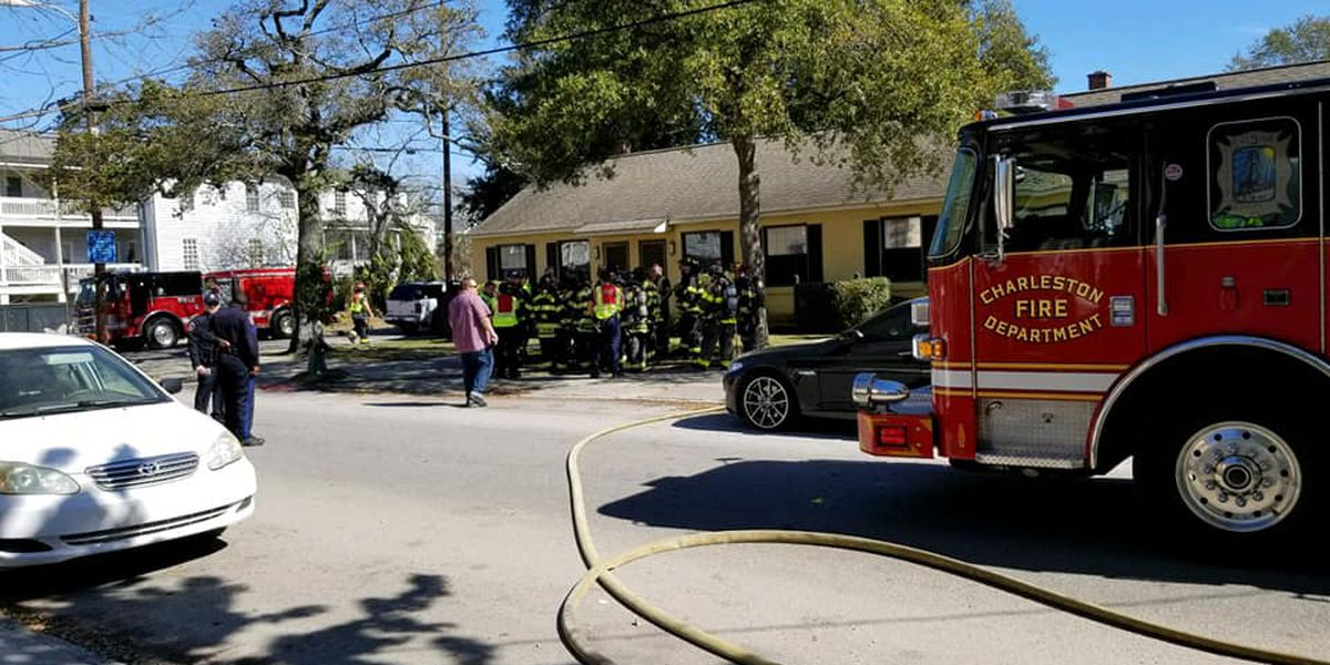 Fire at Charleston multi-unit home displaces 2 people