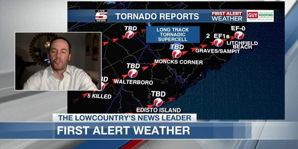 VIDEO: 3 major storms blamed for multiple tornadoes, 9 S.C. deaths