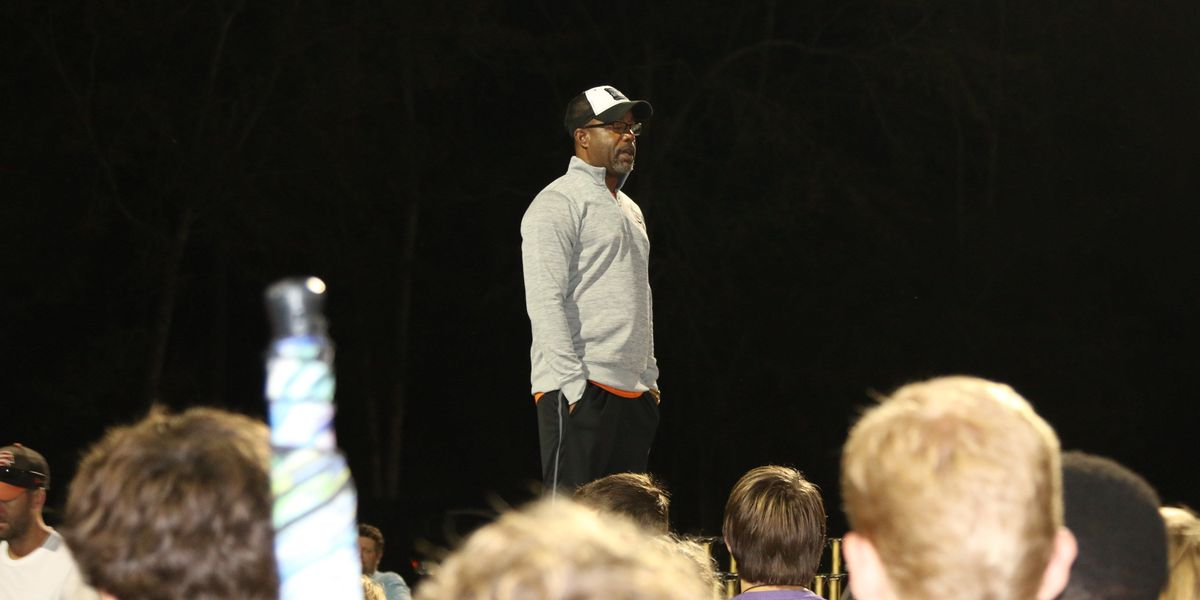 Wando High School Marching Band got a surprise visit from Darius Rucker