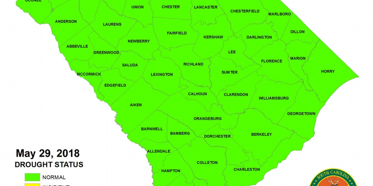 SCDNR: All SC counties considered 'drought-free' for first time in almost 2 years