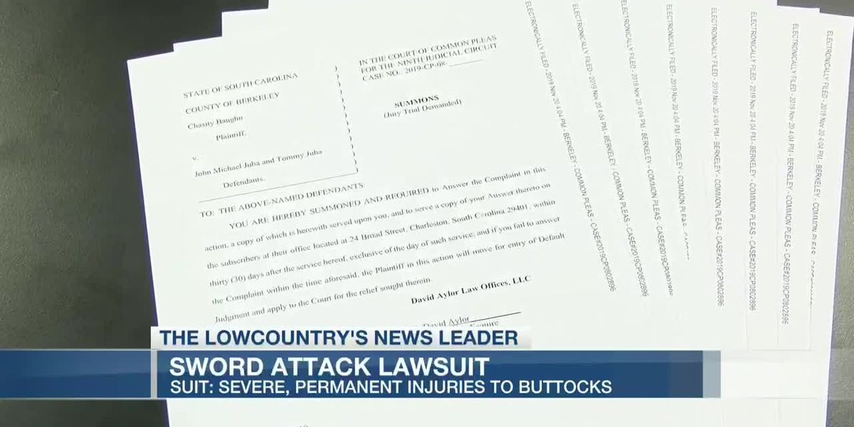 VIDEO: Woman files lawsuit claiming man severely injured buttocks with sword