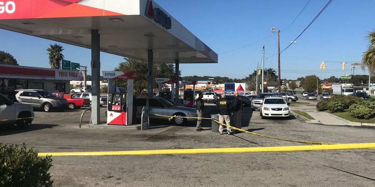 Police investigating shootout between people in vehicles at gas station