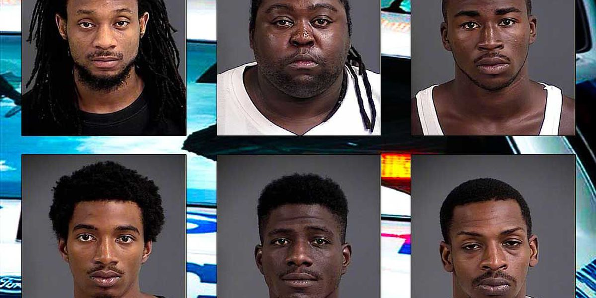 Six suspected drug dealers behind bars following Charleston PD operation