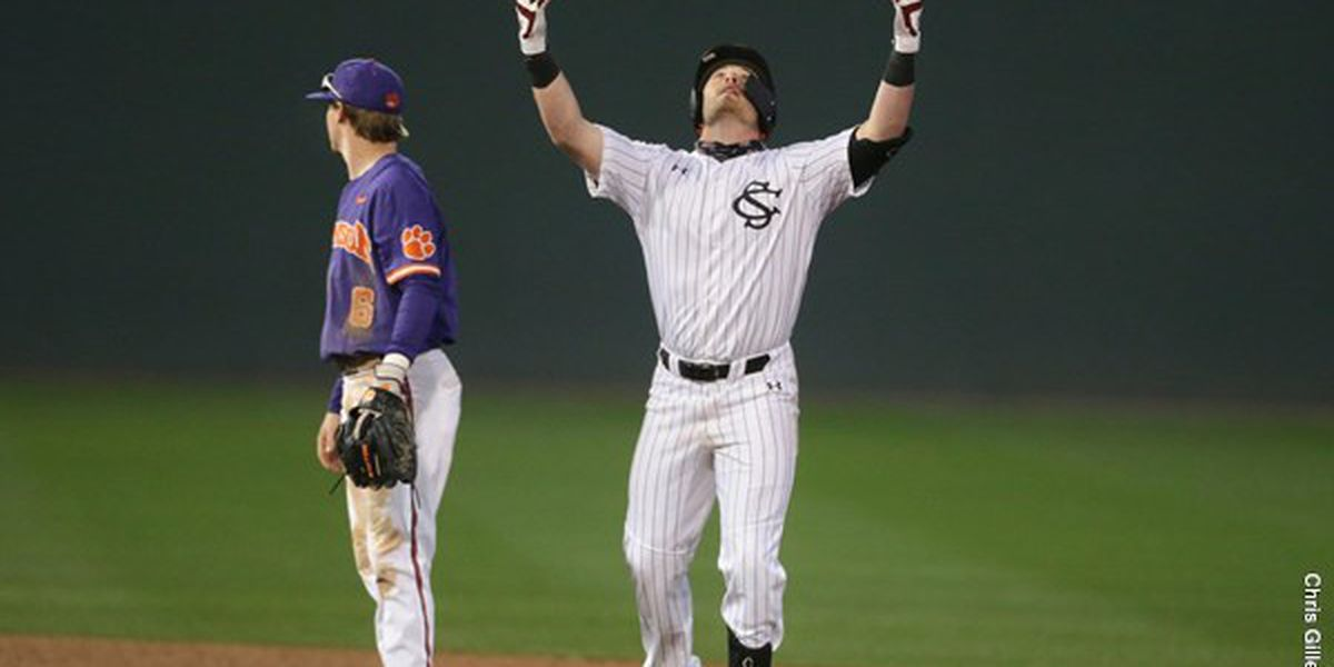 Eyster's Double Helps South Carolina Walk Off Clemson in Extras