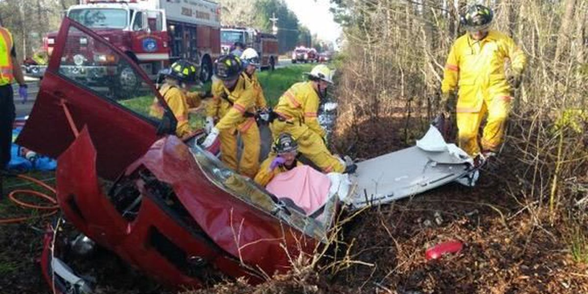 One person airlifted to hospital after accident in Ruffin