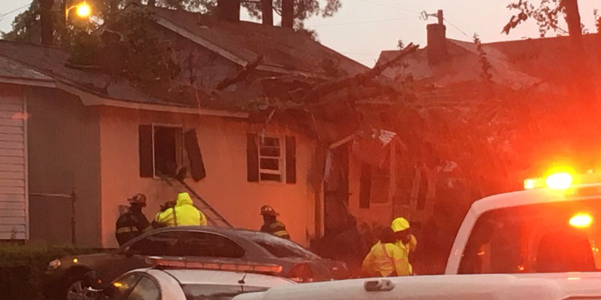 Tree falls on home in Columbia; 1 person rescued