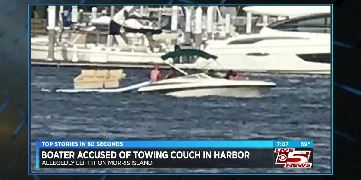 Charleston police looking for boater who left couch on Morris Island